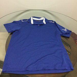 Men's Callaway Blue Polo Golf Shirt Large